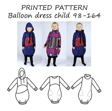 Made by Runi - Balloon dress child - str. 98-164