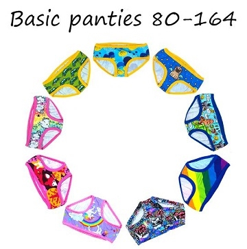 Made by Runi - Basic panties - str. 80-164