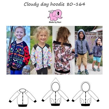 Made by Runi - Cloudy day hoddie - str. 80-164