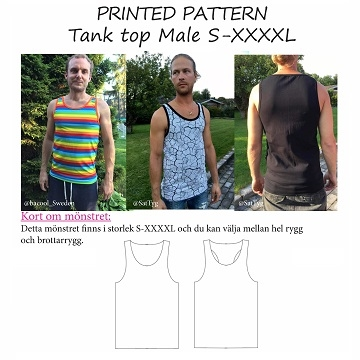 Made by Runi - Tank top Male - str. S - XXXXL