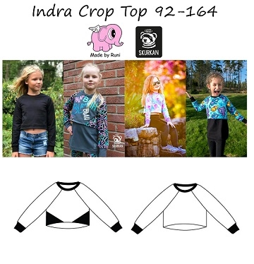 Made by Runi - Indra Crop top - str. 92-164