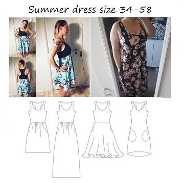 Made by Runi - Summer dress - str. 34-58