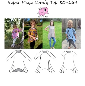 Made by Runi - Super mega comfy top - str. 80-164