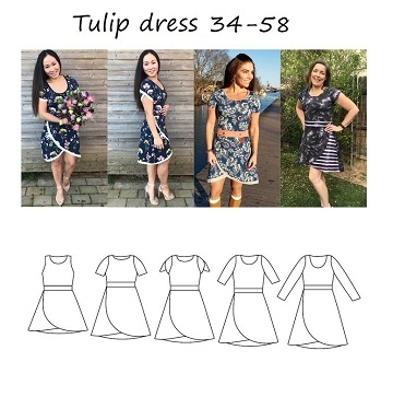 Made by Runi - Tulip dress- str. 34 - 58