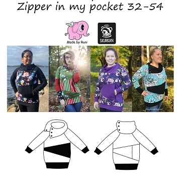 Made by Runi - Zipper in my pocket - str. 32-54