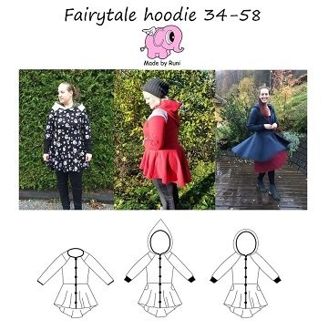 Made by Runi - Fairytale Hoodie woman- str. 34-58