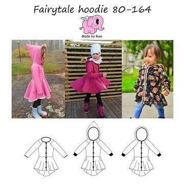Made by Runi - Fairytale Hoodie barn - str. 80-164